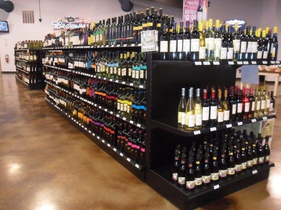 click to the detail liquor shelving