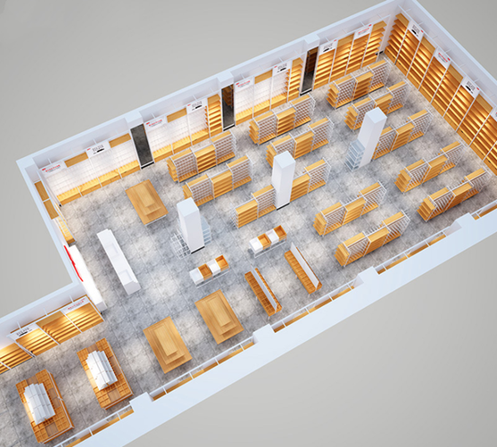 straight floor plan