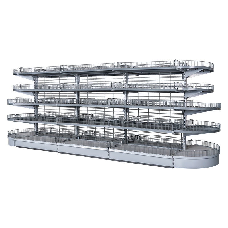 Radius wire end shelf Display Shelving Systems