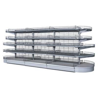 Radius wire end shelf Display Shelving Systems