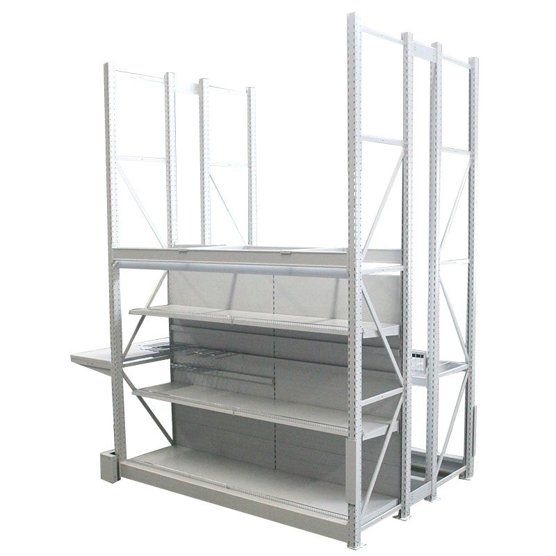 Integrated supermarket shelving Heavy Duty Metal Shelving