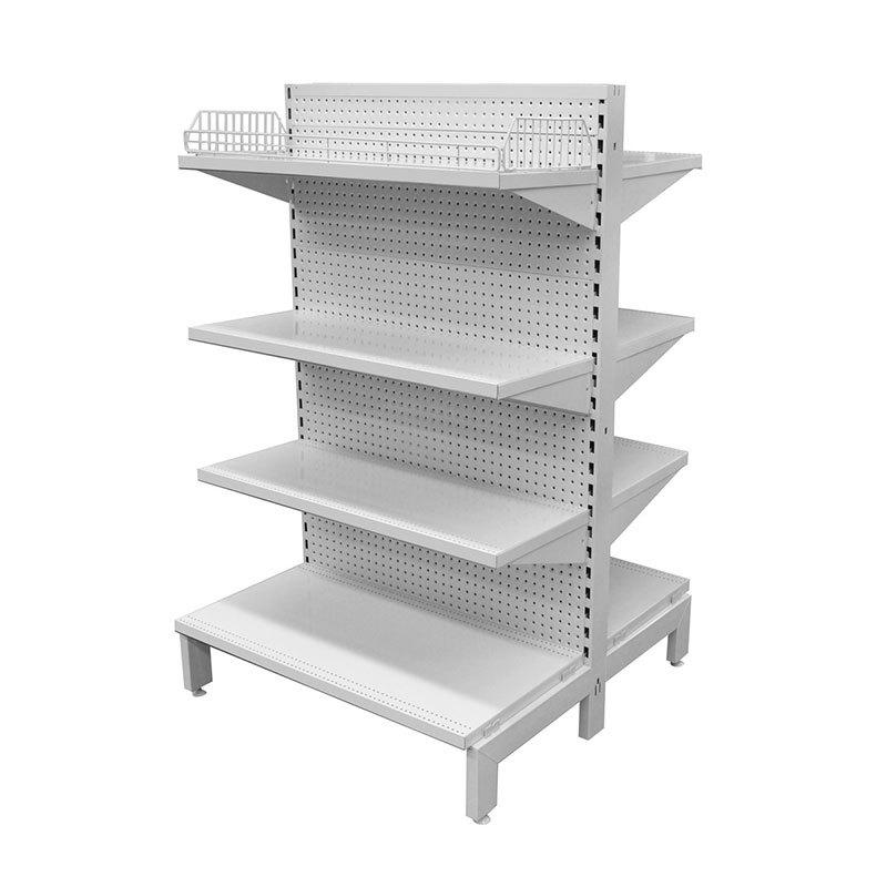Metal wall gondola shelf for shopfitting