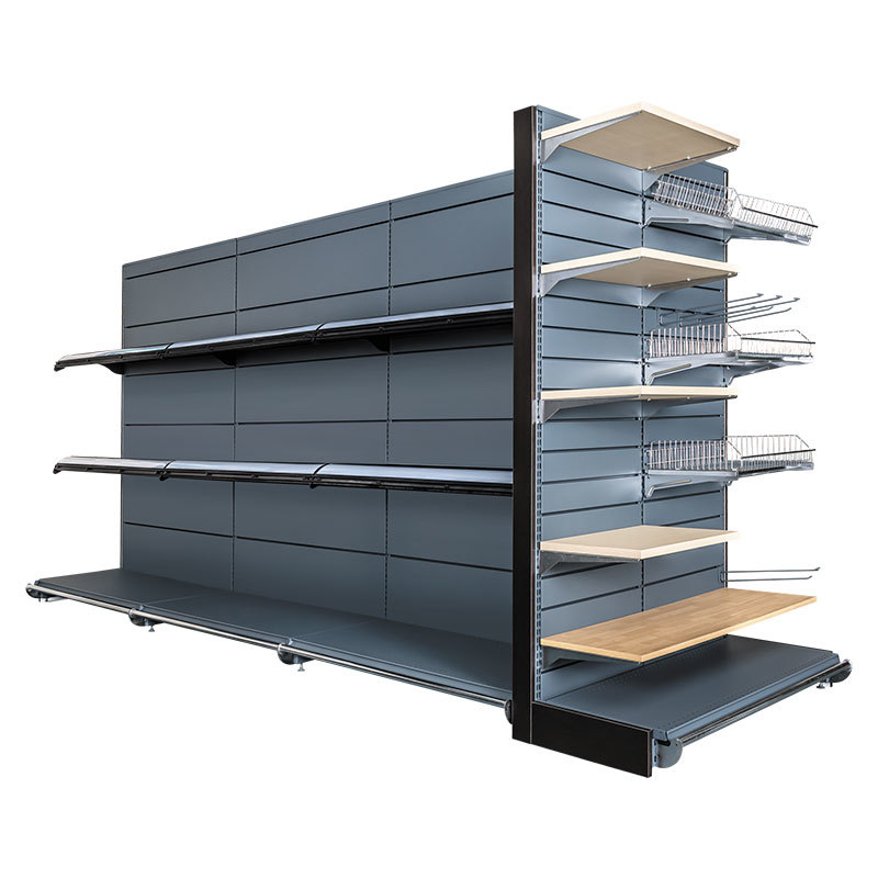 Supermarket Shelves with 25mm pitch hole system