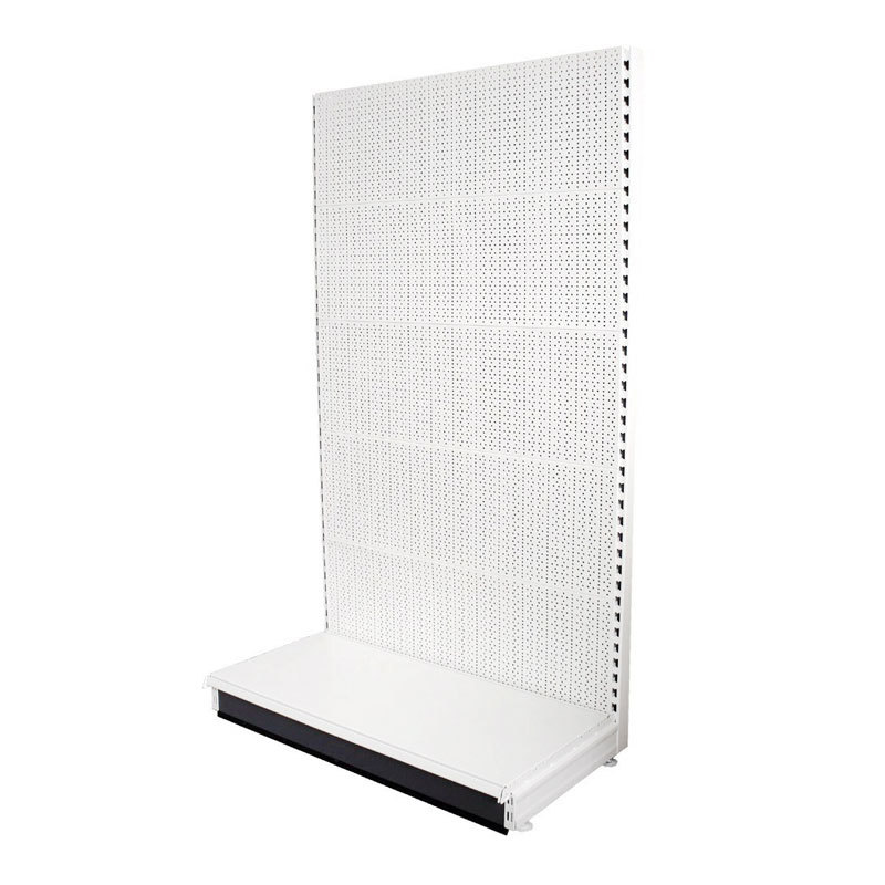 Pegboard shelving for hardware and tools store
