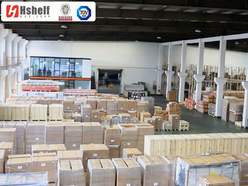 Warehouse & container loading of gondola shelves