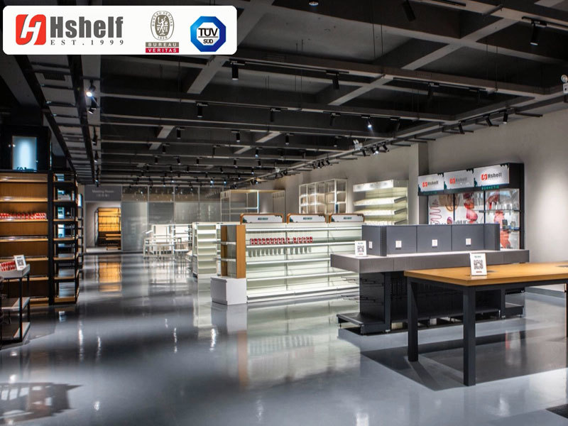 Show room for shop fitting & supermarket shelf
