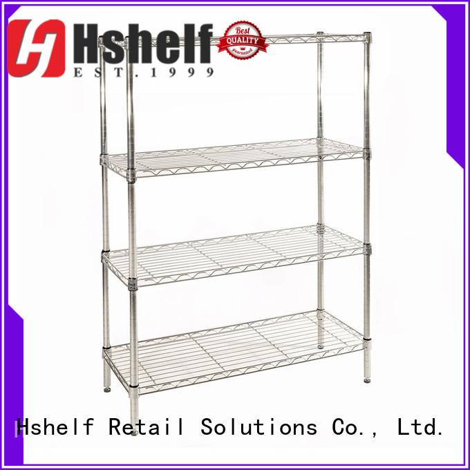 chrome wire shelving unit manufacturer for DIY store Hshelf