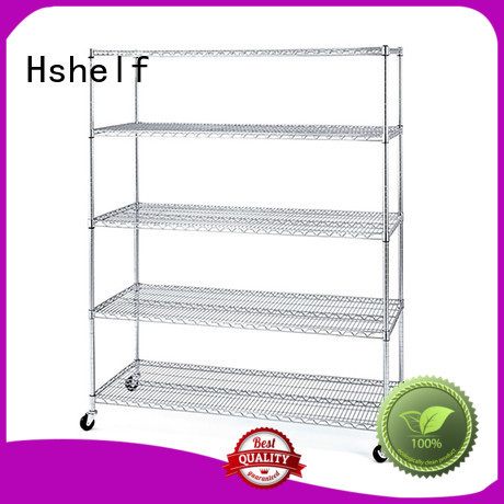 Hshelf adjustable level steel wire shelving manufacturer for retail shops