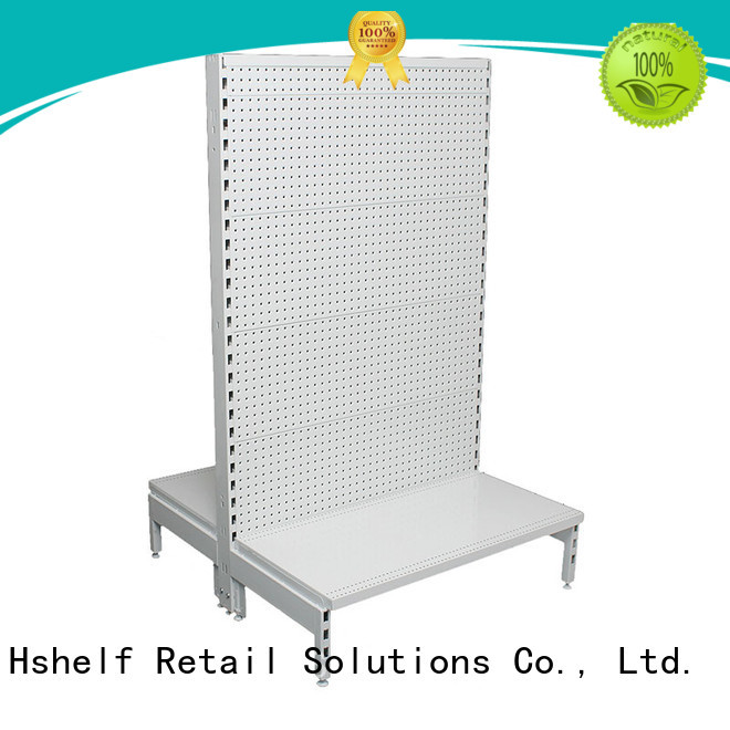 Hshelf MDF timber black gondola shelving