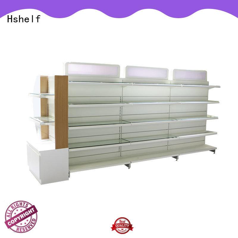 regular size metal shelving unit design for store