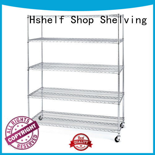 Hshelf commercial industrial wire shelving customized for DIY store