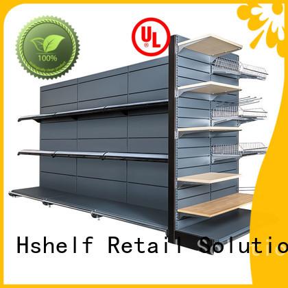 sturdy supermarket shelves design for grocery store