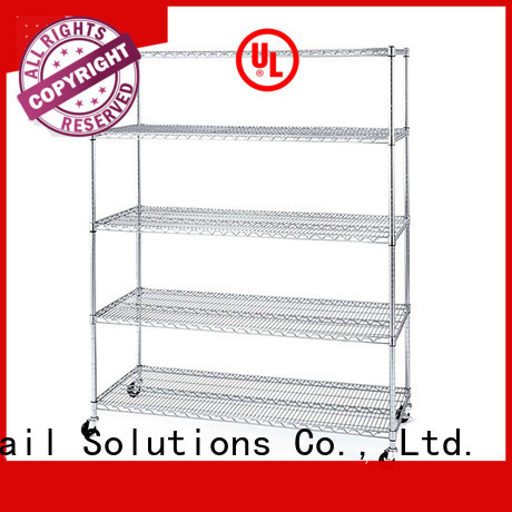 stainless steel wire shelves directly sale for retail shops Hshelf