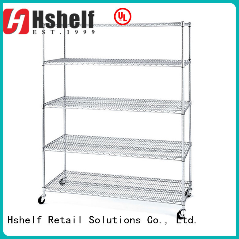 Hshelf industrial steel wire shelving from China for home use