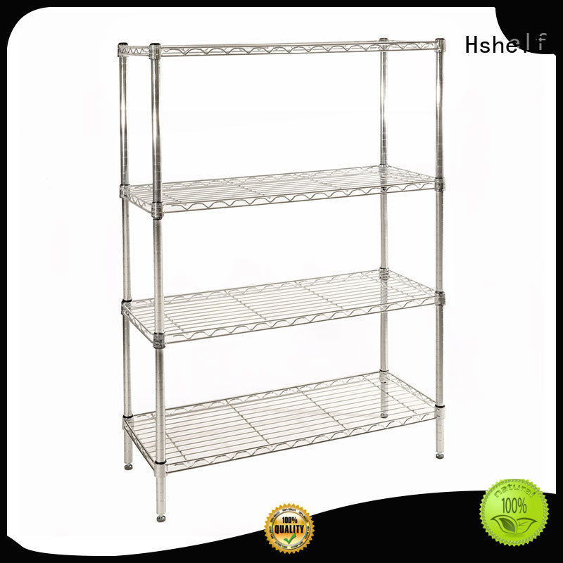 Hshelf steel wire shelving directly sale for retail shops