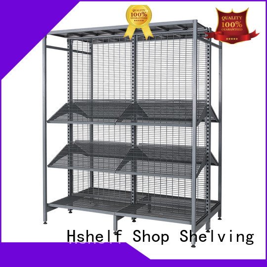 Hshelf huge loading capacity gondola store shelving supplier for Petrol station stores