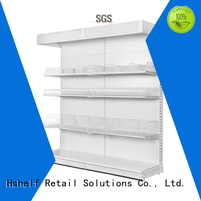 simple structure metal storage rack design for store