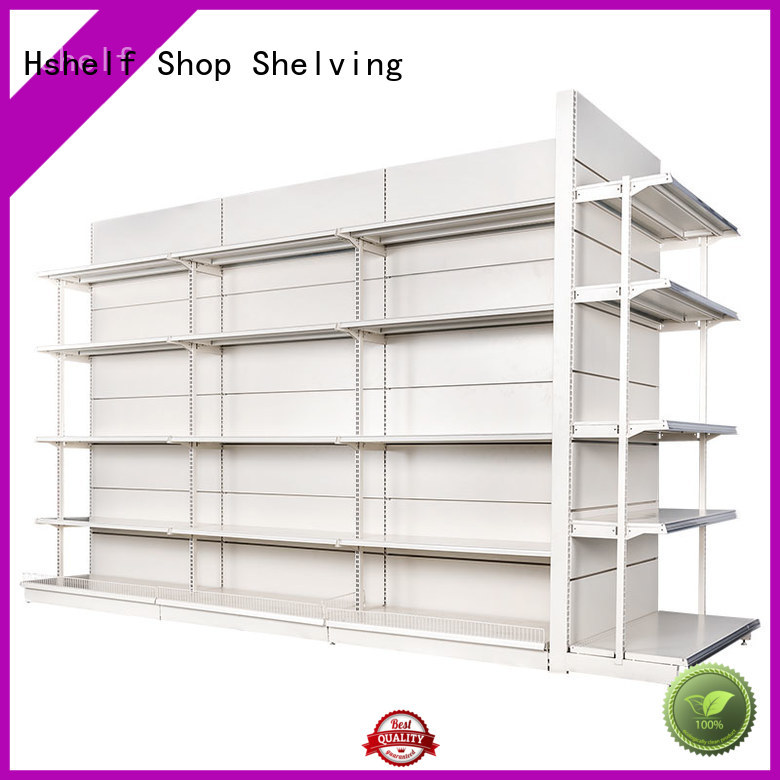 Hshelf different shape supermarket shelving factory for grocery store