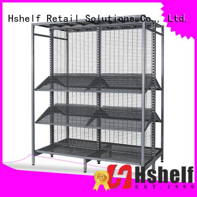 Hshelf solid gondola store shelving personalized for liquor & wine store