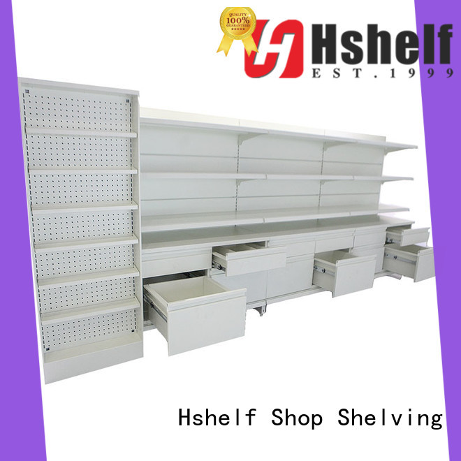 Hshelf pharmacy shelving design for cosmetic store