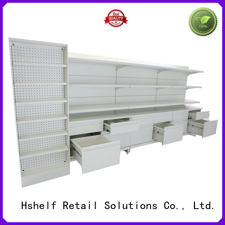 Hshelf friendly pharmacy shelving with good price for drugstores