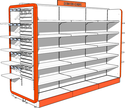 Pharmacy store shelving Pharmacy Display Rack