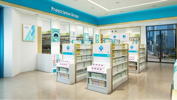 pharmacy store shelving