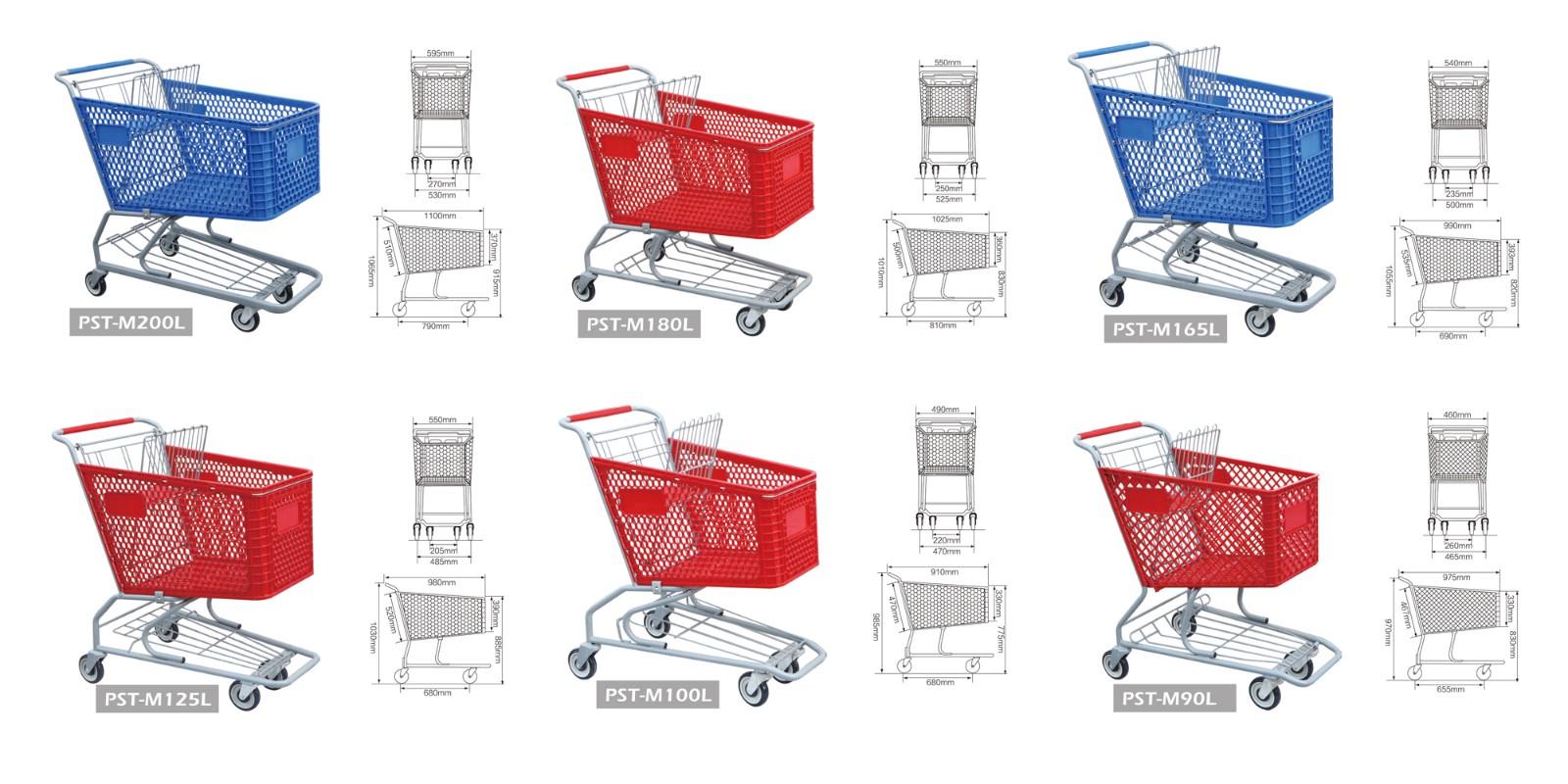 Model of plastic shopping cart