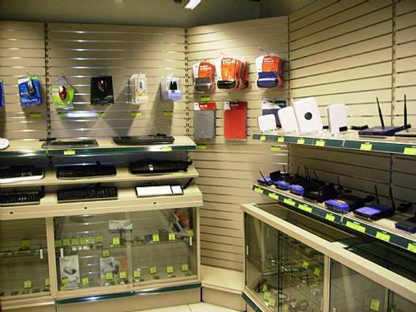 Internal Corner retail shop shelves Display Shelving Unit