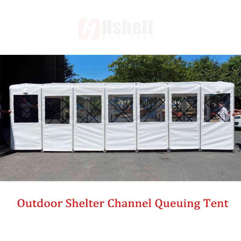 External Shelter Queue Tent for Retail Stores, Schools