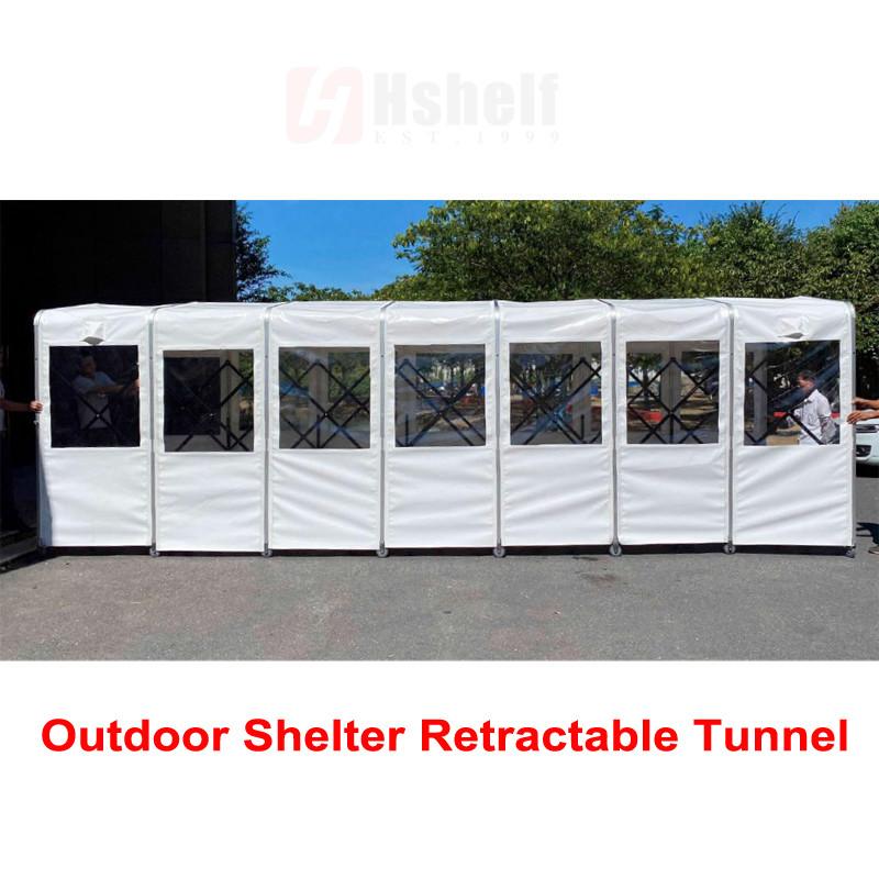 External Shelter Queue Tent for Retail Stores, Schools