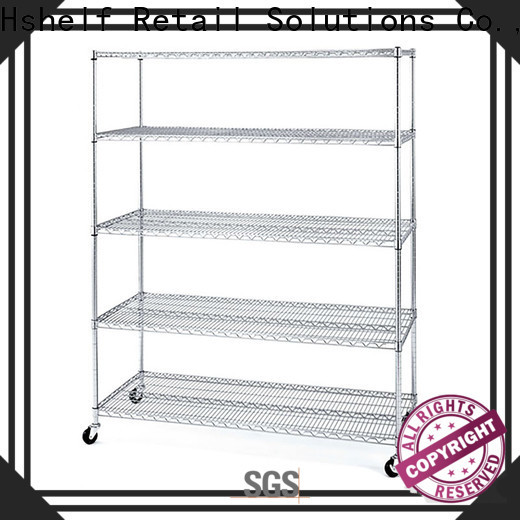adjustable level chrome wire shelving unit directly sale for DIY store