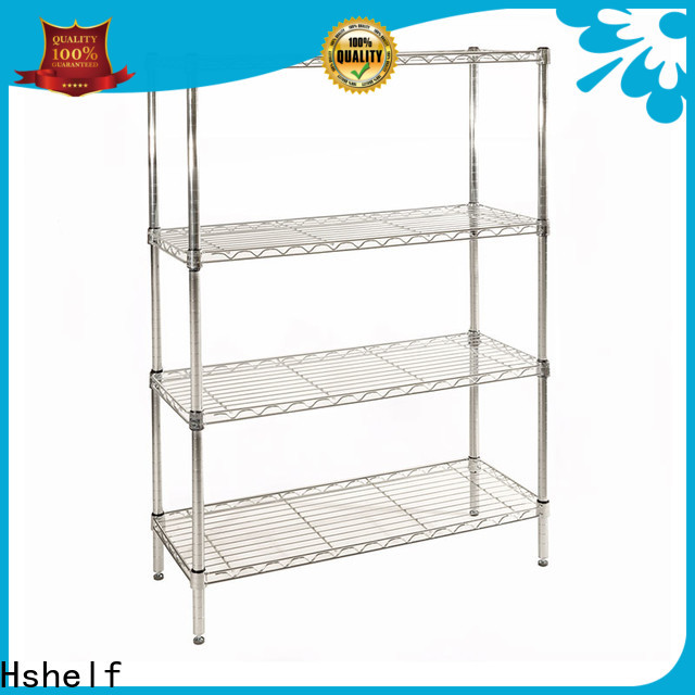 Hshelf chrome wire shelving unit series for retail shops